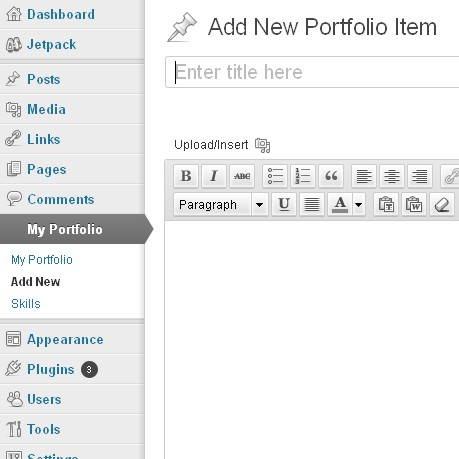 Wordpress Custom Portfolio