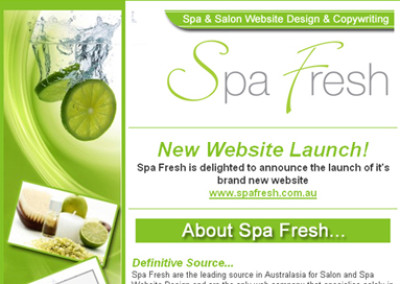 Spafresh Email Design
