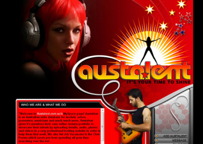 Austalent Myspace Design