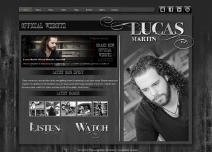 Lucas Martin Wordpress Site Design