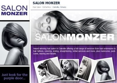 Salon Monzer Facebook Page Design